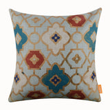 Geometric Golden Pillow Cover