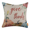 Give Thanks Pumpkin Fall Pillow Cover