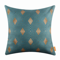 Gold Geometric Pillow Cover