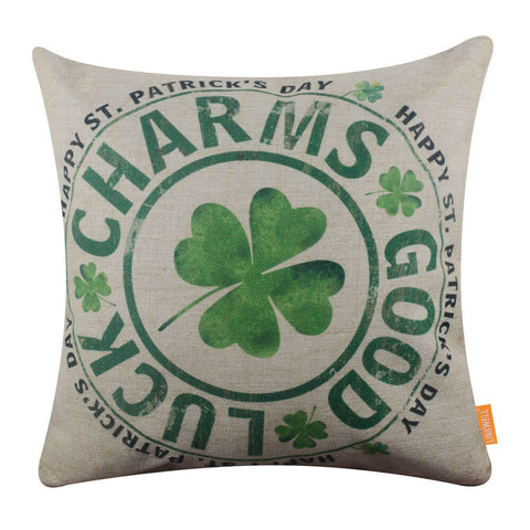 Image of Good Luck Charms Pillow Cover for Saint Patrick's Day