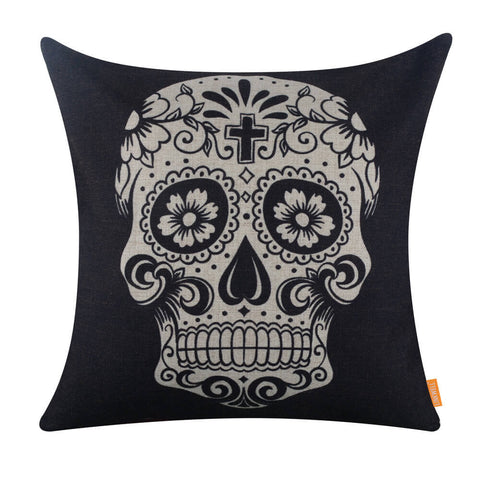 Image of Gorgeous Skull Tattoo Light Square Cushion Cover