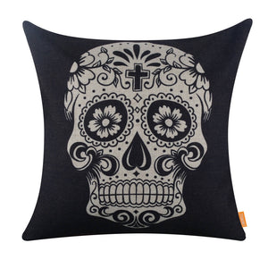 Gorgeous Skull Tattoo Light Square Cushion Cover