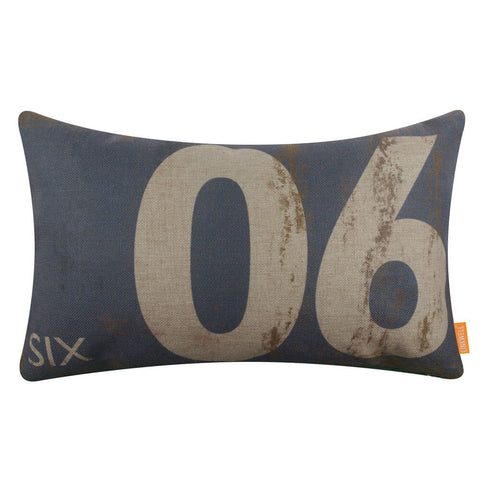 Gray Pillow Cover Number Six