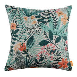 Green Leaf Cartoon Pillow Cover