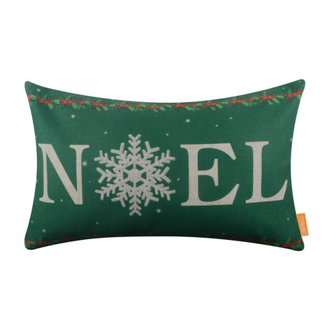 Green Noel Christmas Cushion Cover