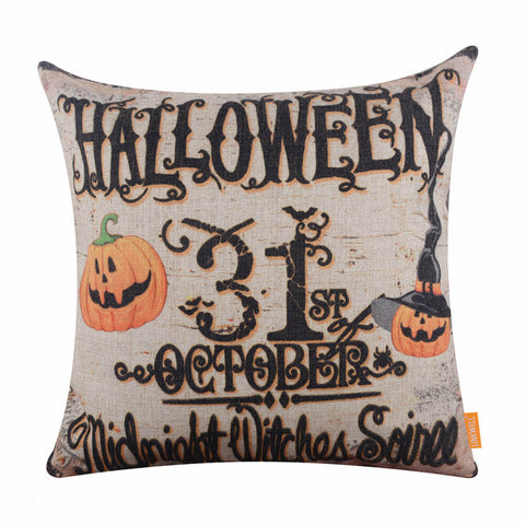 Halloween 31st October Decorative Pillow Case