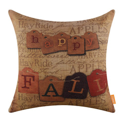 Happy Fall Holiday Pillow Cover