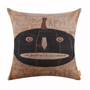 Happy Fall Pumpkin Pillow Cover