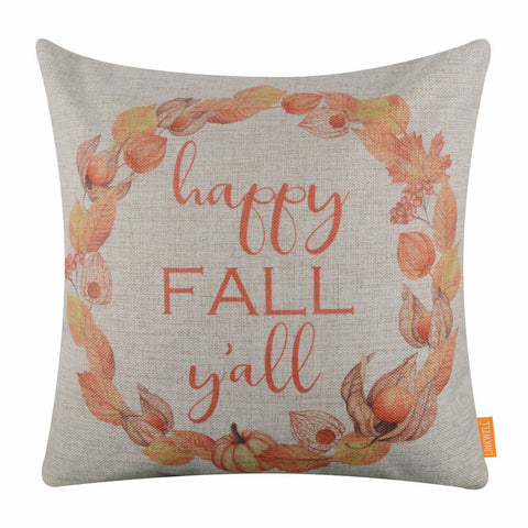 Happy Fall Y'ALL Decorative Cushion Cover