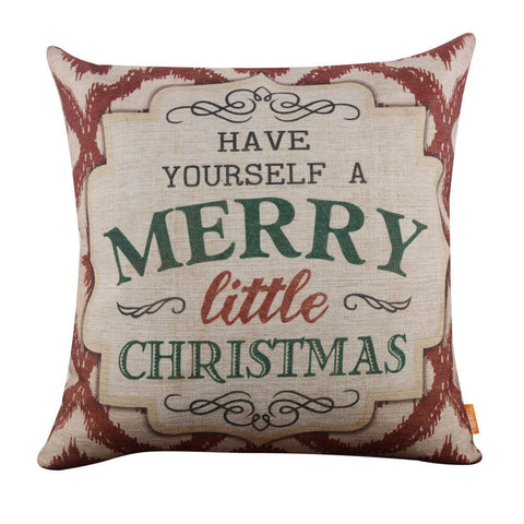 Image of Have Yourself a Merry Little Christmas Pillow Cover