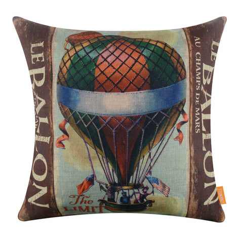 Image of Historic Hot Air Balloon Chair Cushion Cover