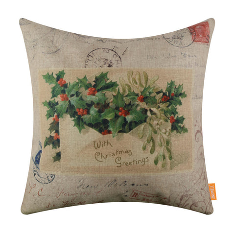 Image of Holly Jolly Pillow Cover