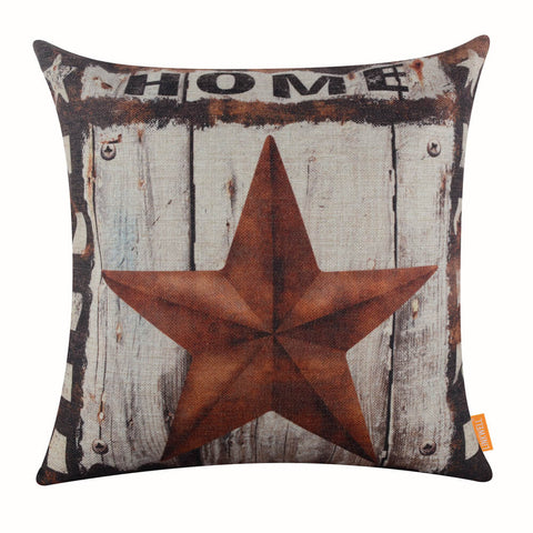 Image of Home Rustic Star Industrial Pillow Cover