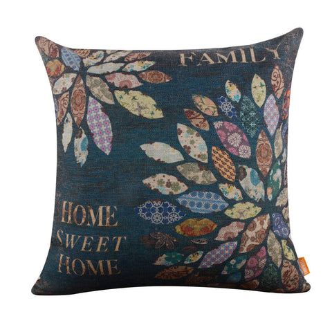 Image of Home Sweet Home Patchwork Style Pillow Cover