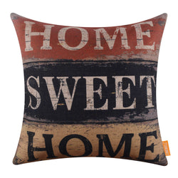 Home Sweet Home Yellow Decorative Pillow Case
