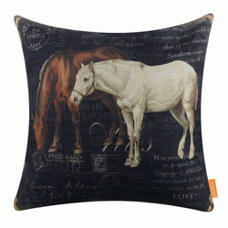 Horse Image Pillow Cover