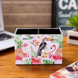 LINKWELL Tropical Pink Flamingo Toucan Pen Holder