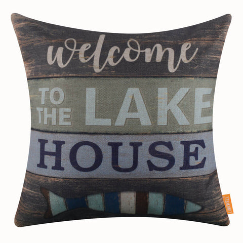 Lake House Pillow Cover