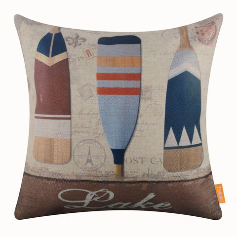 Image of Lake Paddle Pillow Cover