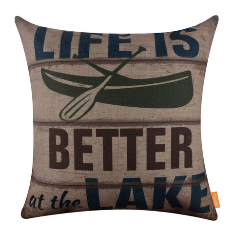 Image of Life is Better at the Lake Accent Pillow Cover
