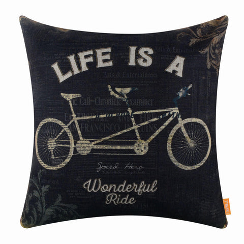 Image of Life is a wonderful ride pillow cover
