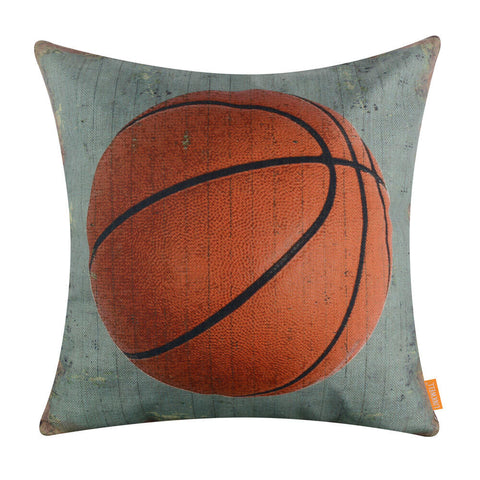 Light Blue Basketball Pillow Cover