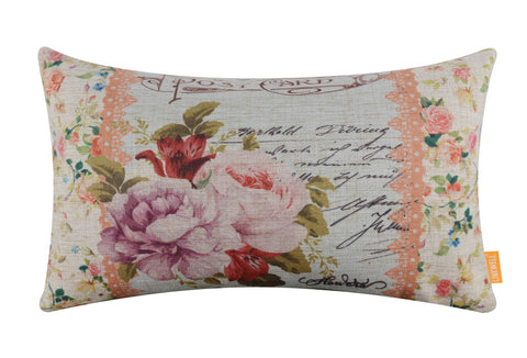 Lily Post Card Girl Room Pillow Cover