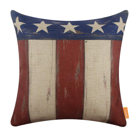 Image of Linkwell American Flag Pillow Cover 18x18 inch