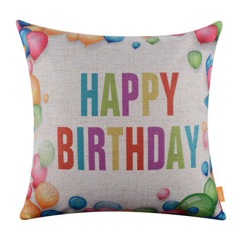 Image of Linkwell Balloons Happy Birthday Pillow Cover