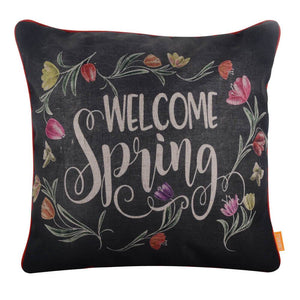 Linkwell Blackboard Art Welcome Spring Pillow Cover 18x18