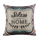 Linkwell Bless Our Home Patterned Throw Pillow Cover