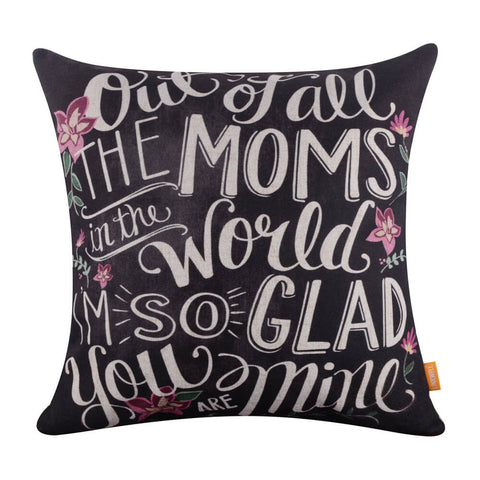 Image of Linkwell Dear Mom Pillow Cover for Mother's Day