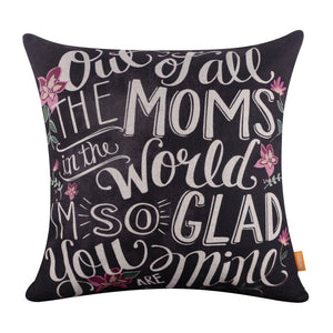 Linkwell Dear Mom Pillow Cover for Mother's Day
