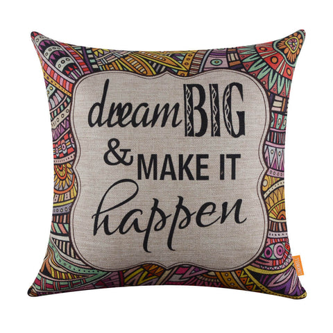 Image of Linkwell Dream Big Inspirational Doodle Pillow Cover