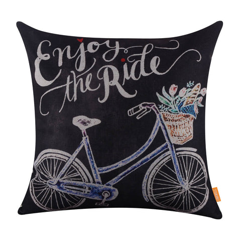 Image of Linkwell Enjoy the Ride Bicycle Travel Pillow Cover