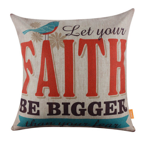 Image of Linkwell Faith Inspirational Quote Pillow Cover