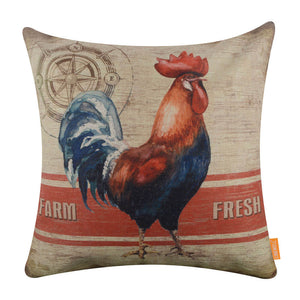 Linkwell Farmhouse Rooster Pillow Cover