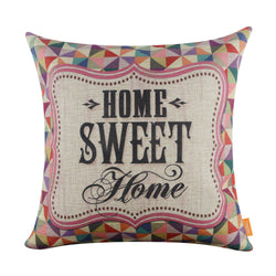 Linkwell Home Sweet Home Geometrical Pattern Pillow Cover