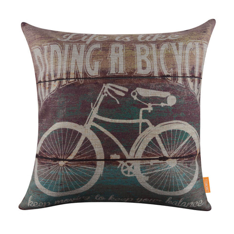 Image of Linkwell Inspirational Bicycle Quote Pillow Cover