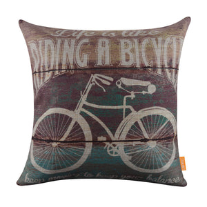 Linkwell Inspirational Bicycle Quote Pillow Cover