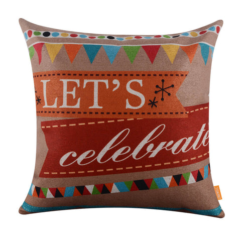 Linkwell Let's Celebrate Bunting Wedding Pillow Cover
