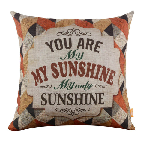 Linkwell You Are My Sunshine Geometrical Pillow Cover