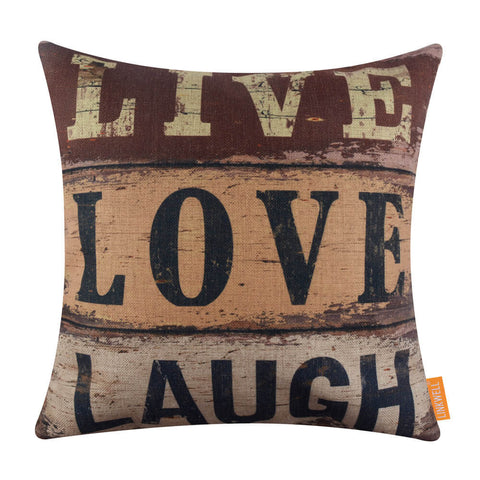 Image of Live Love Laugh 18x18 Pillow Cover