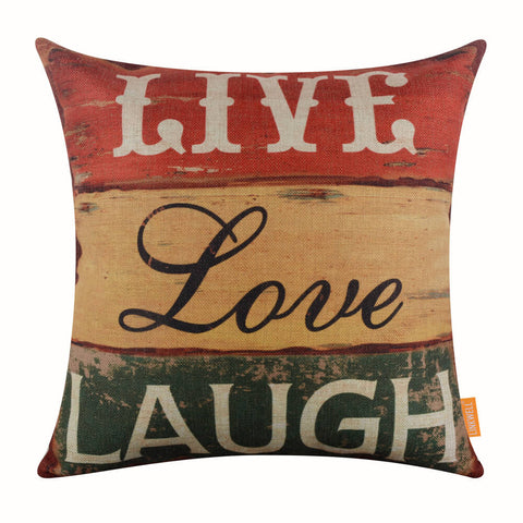 Image of Live Love Laugh Pillow Cover