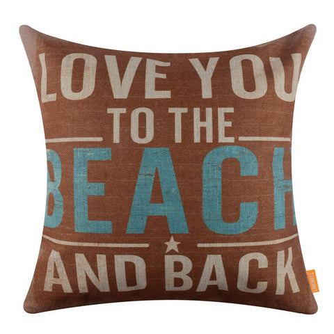 Love you to the Beach and Back Pillow Cover for Valentine's Day