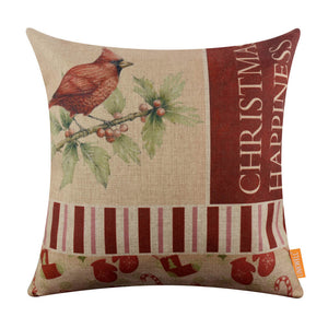Merry Christmas Large Sofa Pillow Cover