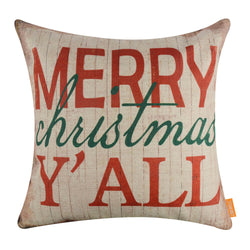 Merry Christmas Y All Cushion Cover