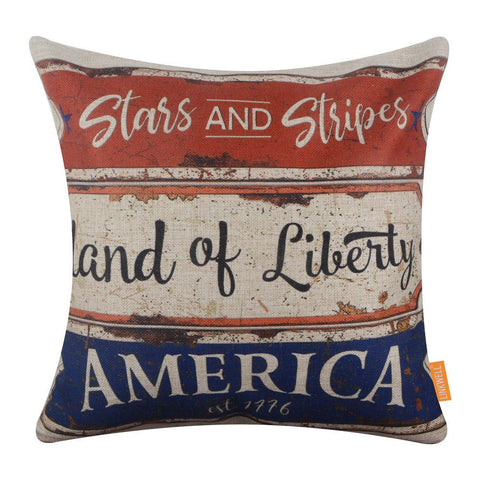 Image of Metal-Board-Americana-Decor-Pillow-Cover