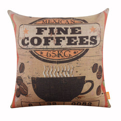 Mexican Fine Coffees Pillow Cover