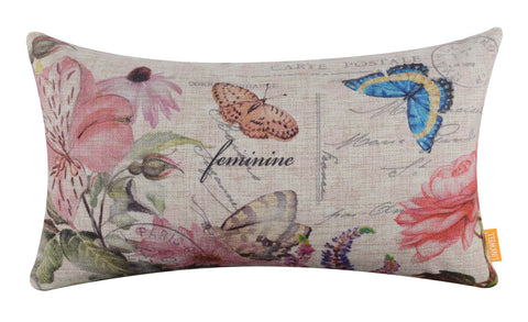 Modern Butterfly Nursing Pillow Cover